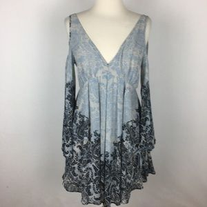 Free People Penny Love Cold Shoulder Dress Small